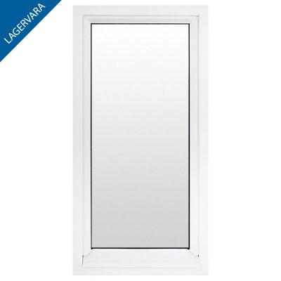 Fönster 60×150, 3-glas, vitmålade, fast.