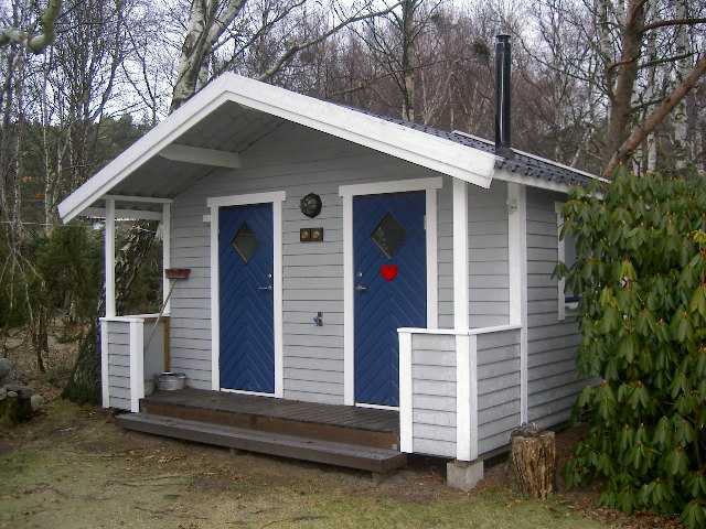Liten veranda ( 80 cm) inkl. tak.