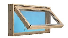 Fönster: 100×50, 2-glas, öppningsbart, obehandlat