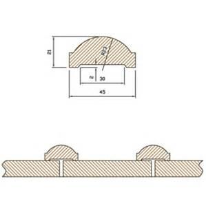 Stående panel med kupolläkt (läkt levereras löst)