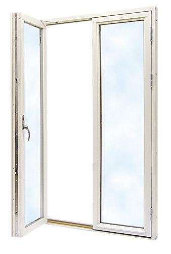 Dörrar: Helglasade 150×200, 3-glas, vit.