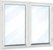 Fönster (2-luft): 120×80, 2-glas, vitmålat, öppningsbart