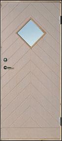 Bättre dörr, 18 gr, 90×200, med glas, vitmålad