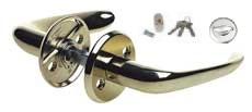 Handtag med lås och tre nycklar