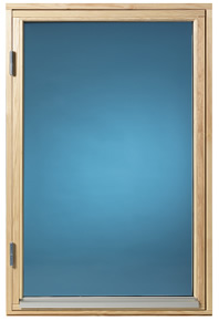 Fönster 80×100, obehandlat, öppningsbart, 2-glas