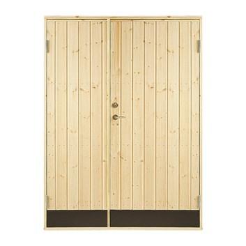 Dubbeldörr 130 x 190 i st för friggebodörr