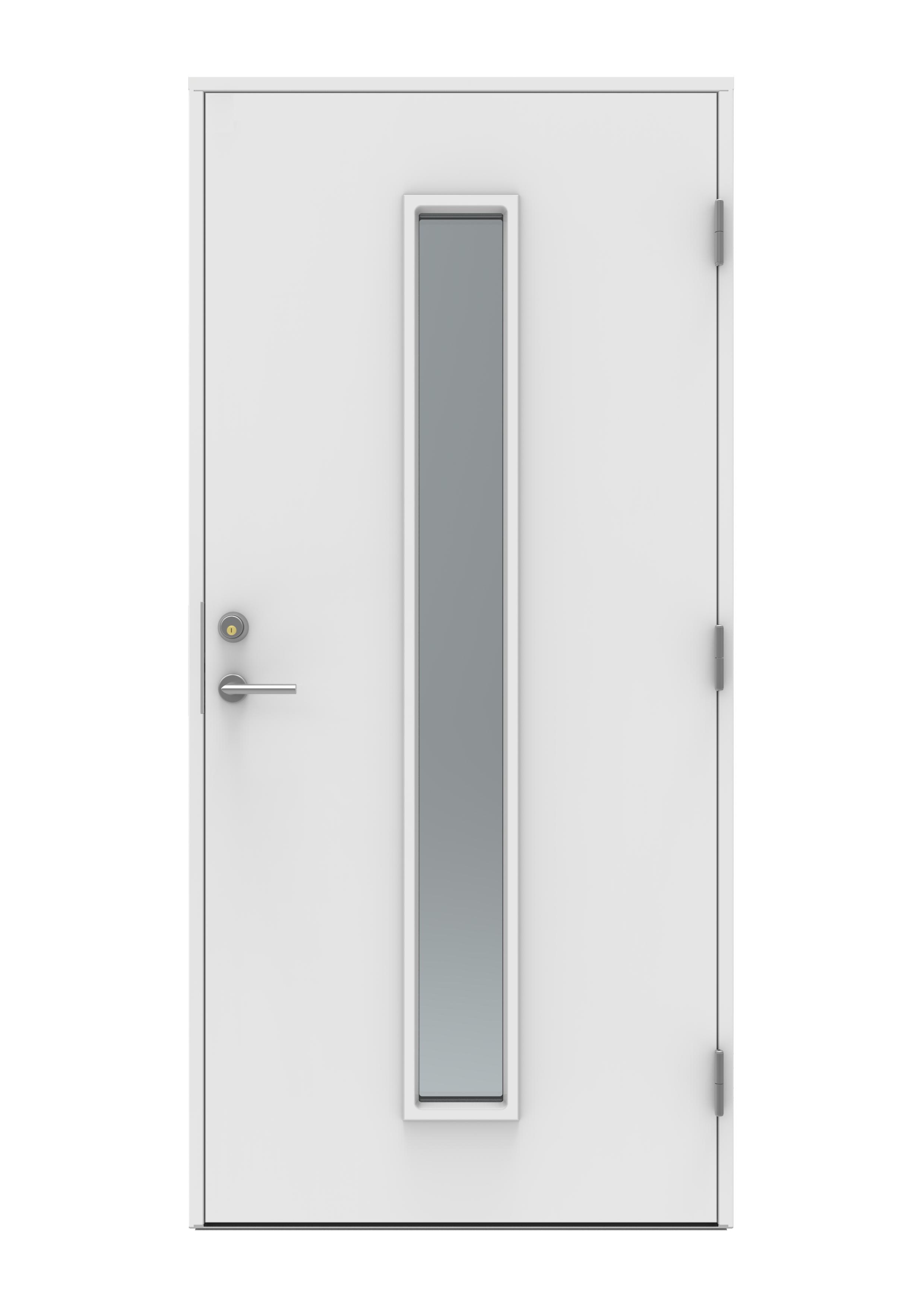 Dörr: Funkis 21 Fgr 90 x 200  vitmålad